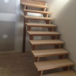 STair, cutstring, spotted gum