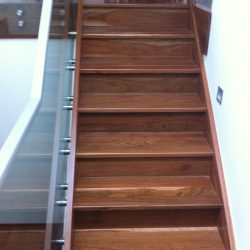 Stair, spotted gum