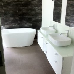 Ensuite, glass top